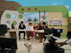関西テレビでの収録風景