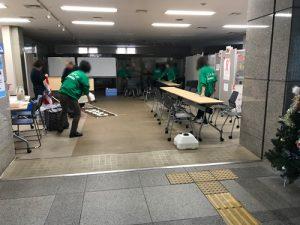 災害ボランティアセンター準備の様子